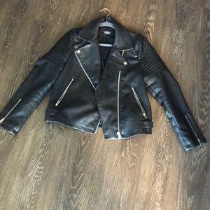 Topshop leather jacket size US 10!